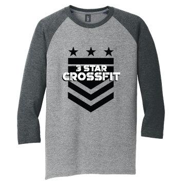 3 Star Crossfit Arrow Unisex Baseball Tee