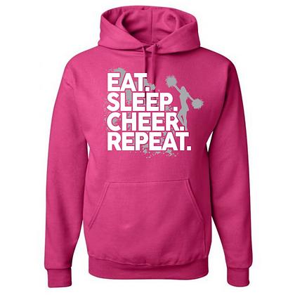 Eat. Sleep. Cheer. Repeat. Unisex Hoodie