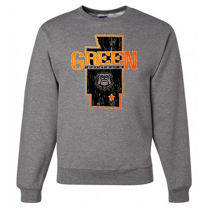 Green Bulldogs General Logo #6 Unisex Crew Neck T-Shirt