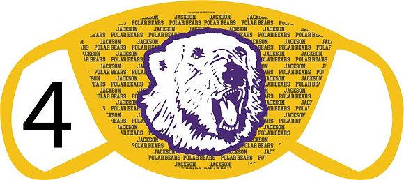 Jackson Polar Bear Face Mask