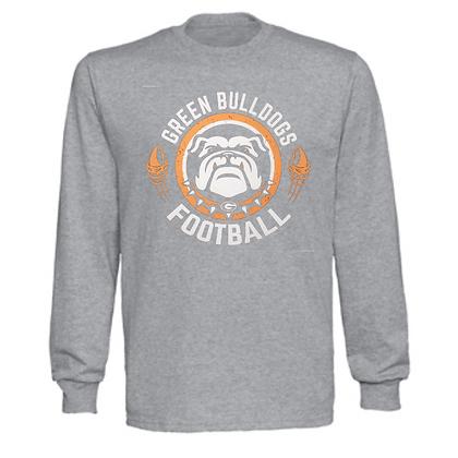 Green Bulldogs Football Logo #40 Unisex Long Sleeve T-Shirt