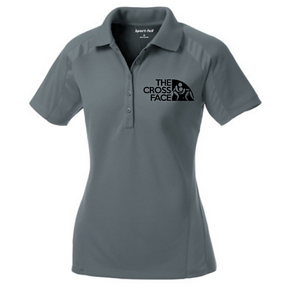 Ladies OAC Embroidered The Cross Face (Black) Polo