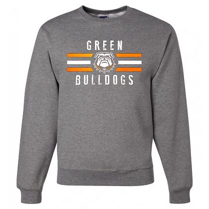 Green Bulldogs General Logo #4 Unisex Crew Neck Sweatshirt