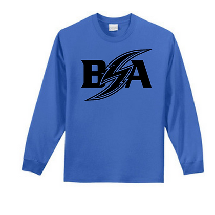 Blue Storm Athletics Logo (Black) Unisex Long Sleeve Tee