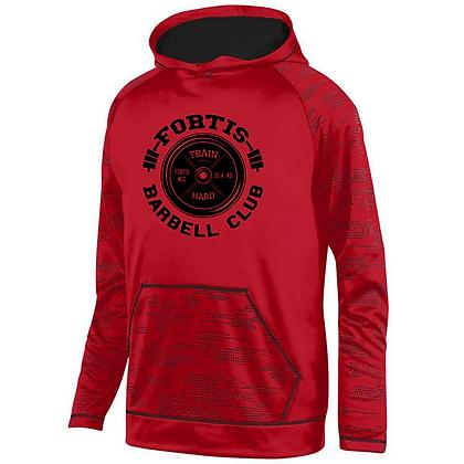 Fortis Weightlifting Barbell Club Logo C (Black) Sleet Hoodie