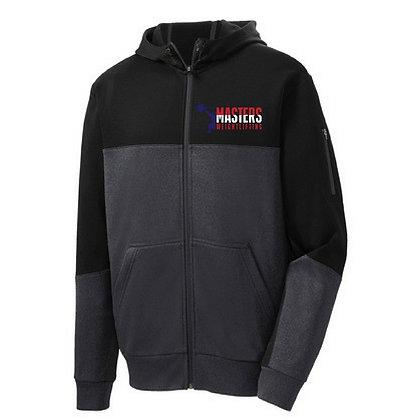Masters Weightlifting Sport Tek Men's Jacket - Black/Graphite