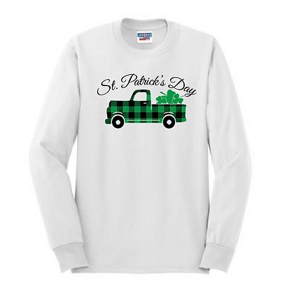 St. Patrick's Day Truck Unisex Cotton blend Long Sleeve