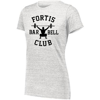 Fortis Weightlifting Barbell Club B (Black Logo) Ladies Tri-blend T-Shirt