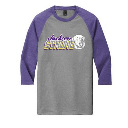 Jackson Strong Purple Sleeves Baseball Tee