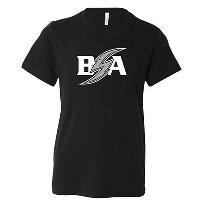 Blue Storm Athletics Logo (White & Gray) Youth T-Shirt