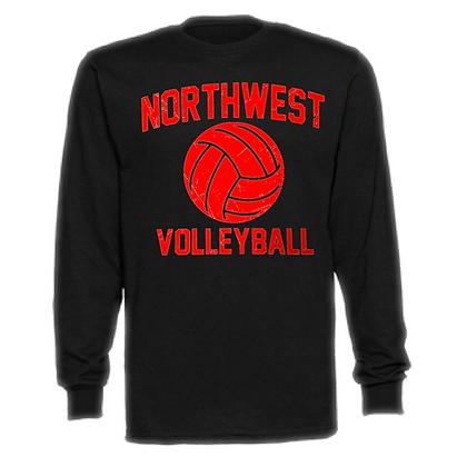 Northwest Indians Volleyball Logo #73 Unisex Long Sleeve T-Shirt