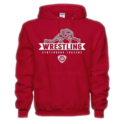 Centerburg Trojans Wrestling Red Unisex Hoodie
