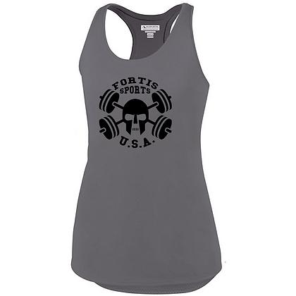 Fortis Sports USA Logo B (Black) Ladies Tank