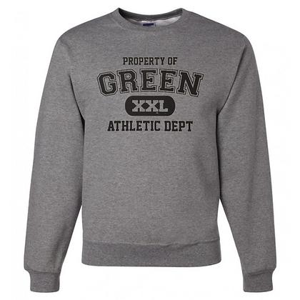 Green Bulldogs General Logo #9 Unisex Crew Neck Sweatshirt