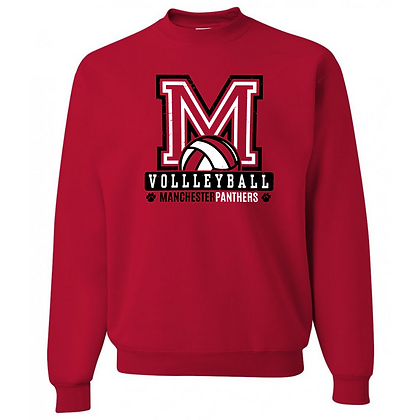 Manchester Panthers Volleyball Logo #81 Unisex Crew Neck Sweater