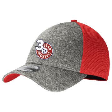 3 Star Crossfit Unisex Stretch Mesh Hat