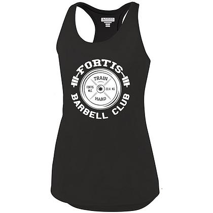 Fortis Weightlifting Barbell Club Logo C (White Logo) Ladies Tank