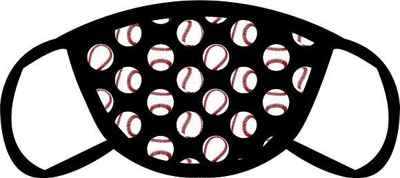Baseball Pattern Face Mask