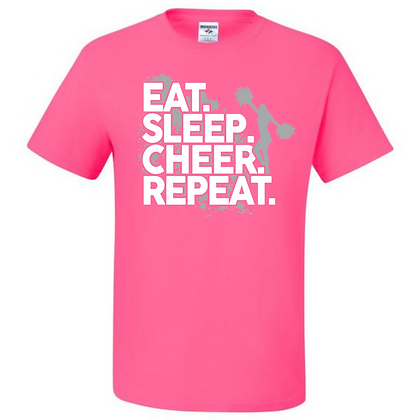 Eat. Sleep. Cheer. Repeat. Unisex T-Shirt