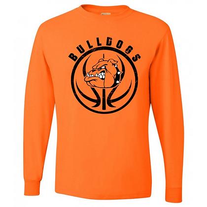 Green Bulldogs Basketball Logo #27 Unisex Long Sleeve T-Shirt