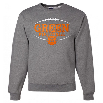 Green Bulldogs Football Logo #41 Unisex Crew Neck Sweater