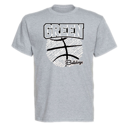 Green Bulldogs Basketball Logo #26 Unisex T-Shirt