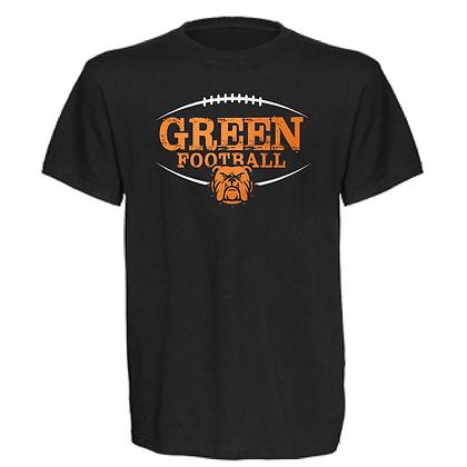 Green Bulldogs Football Logo #41 Unisex T-Shirt
