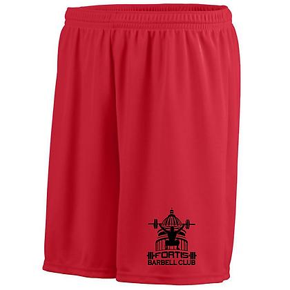 Fortis Weightlifting Barbell Club (Black Logo) Mens Shorts
