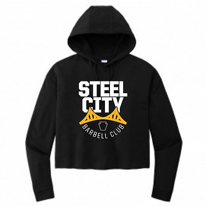 Steel City Design #3 Ladies Crop Hoodie