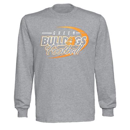 Green Bulldogs Football Logo #43 Unisex Long Sleeve T-Shirt