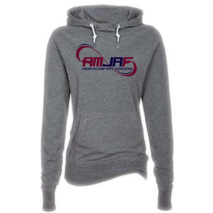 AMJRF Navy and Maroon Logo Women's Funnel Neck Hoodie