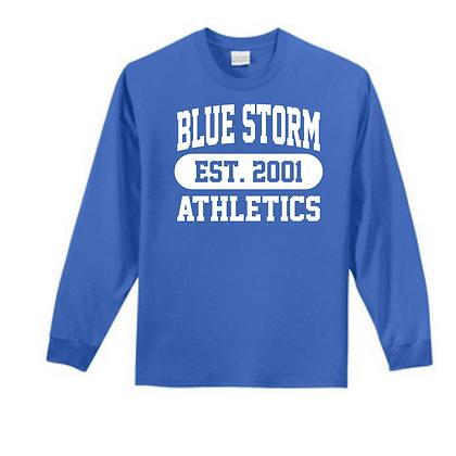 Blue Storm Athletics Est. 2001 (White) Unisex Long Sleeve Tee
