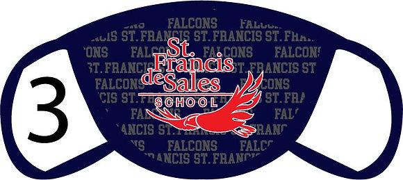 St. Francis de Sales Logo'd Face Mask