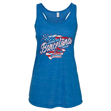USA Masters Weightlifting Going to Barcelona Team Tank Tops