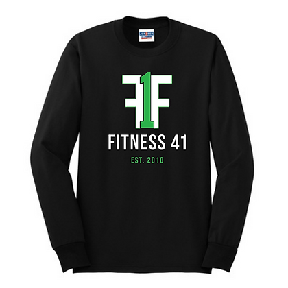 Fitness Forty One Unisex Cotton blend Long Sleeve