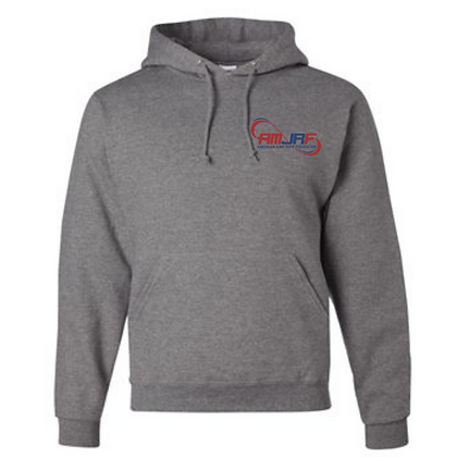 AMJRF Navy and Maroon Left Chest Unisex Hoodie
