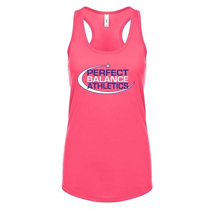 Perfect Balance Athletics Logo (Blue & White) Women's Racerback Tank
