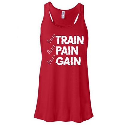 Train Pain Gain Women's Tank Top