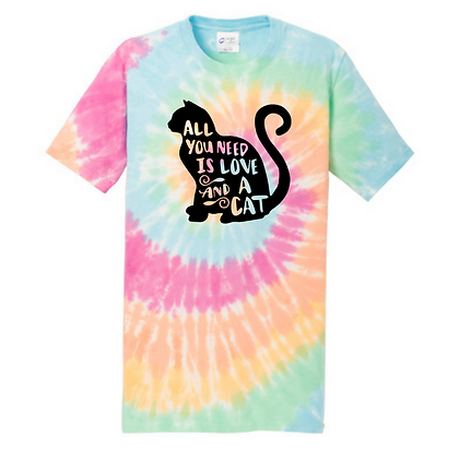 All You Need Is Love and A Cat Unisex Short Sleeve