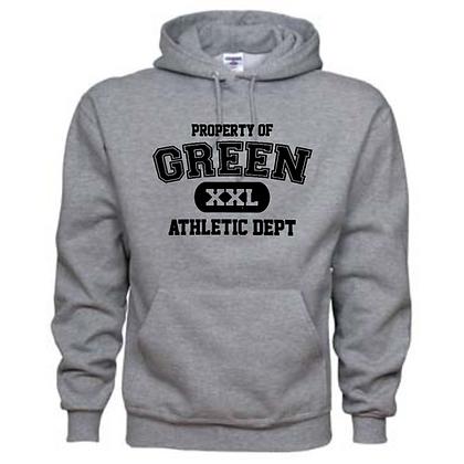 Green Bulldogs General Logo #9 Unisex Hoodie
