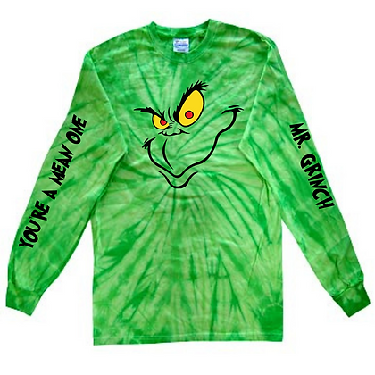 Grinch Tie-Dye Long Sleeve