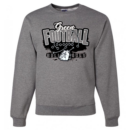 Green Bulldogs Football Logo #37 Unisex Crew Neck Sweatshirt