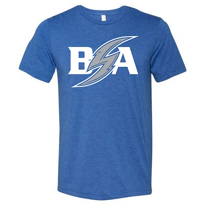 Blue Storm Athletics Logo (White & Gray) Unisex Triblend