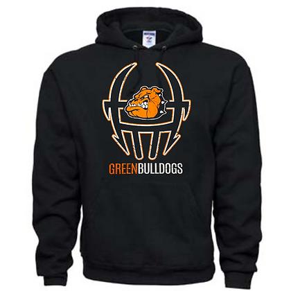Green Bulldogs Football Logo #39 Unisex Hoodie
