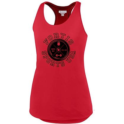 Fortis Sports USA Logo C (Black) Ladies Tank