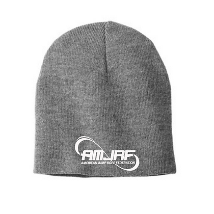 AMJRF Beanie With Embroidered White Logo