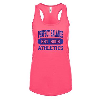 Perfect Balance Athletics Est. 2003 (Blue) Women's Racerback Tank