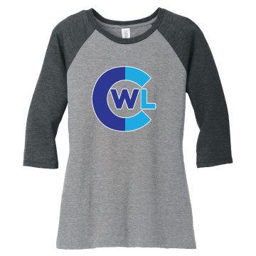 CWL Ladies Baseball Tee