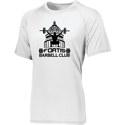 Fortis Weightlifting Barbell Club (Black Logo) Mens Compression Shirt