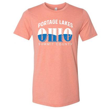Portage Lakes Ohio Unisex Triblend T-Shirt